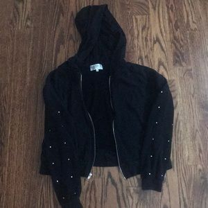 Wildfox black sweatshirt women's small rhinestones